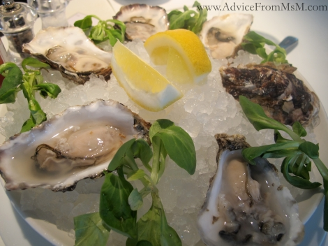 Oysters from the Fifth Floor Bar, Harvey Nichols, London